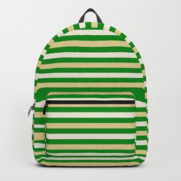 Green and Golden Horizontal Backpack