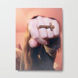 cross ring Metal Print