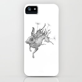 Hare Dandelion iPhone Case