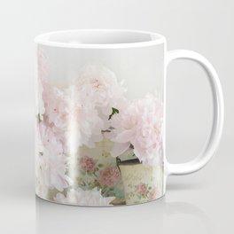 Shabby Chic Dreamy Pastel Peonies Floral Home Decor Coffee Mug