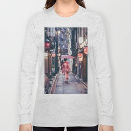 Geisha In Kyoto Long Sleeve T-shirt