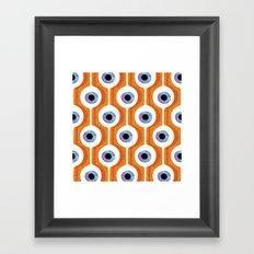 Eye Pod Orange Framed Art Print