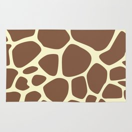 Animal Print (Giraffe Pattern) - Brown Yellow Rug