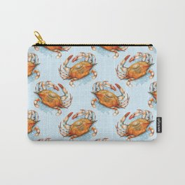 Watercolor Soft shell crab Carry-All Pouch