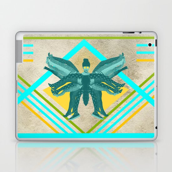 The girl who finally became a butterfly Laptop & iPad Skin