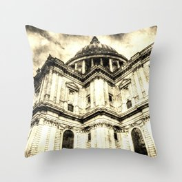St Paul's Cathedral London Vintage Throw Pillow