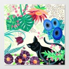 Natures Confetti Cat  Canvas Print
