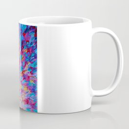 SPLASH, Revisited - Bold Beautiful Feminine Romance Ocean Beach Waves Magenta Plum Turquoise Crimson Coffee Mug