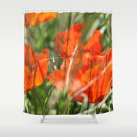 poppy Shower Curtains featuring Poppy by Falko Follert Art-FF77