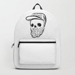 Lust For Life - Digital Skull Traveller Illustration Backpack