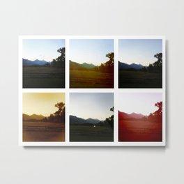 Tetons Collage Metal Print