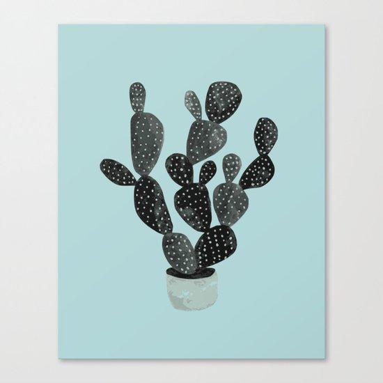 Monday blue cactus pricks Canvas Print