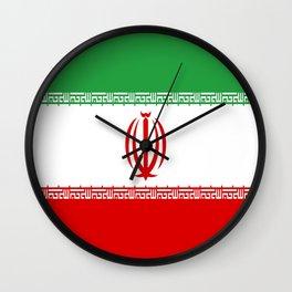 Flag of iran Wall Clock