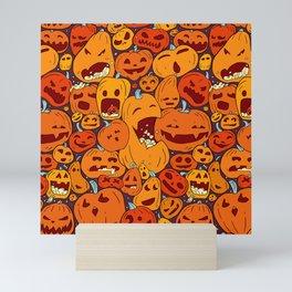Halloween pumpkin pattern Mini Art Print