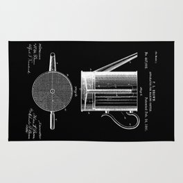 Coffee Press Patent - Black Rug