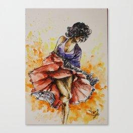 Salsa dancer Canvas Print