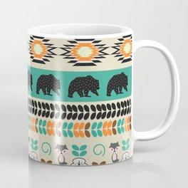 Native spirit with foxes and bears Coffee Mug