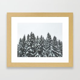 SNOWY TREETOPS Framed Art Print