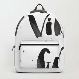 Good Vibes Only watercolor lettering Backpack