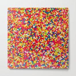 Round Sprinkles Metal Print