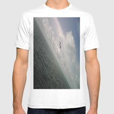 LONE BIRD SMALL Mens Fitted Tee White