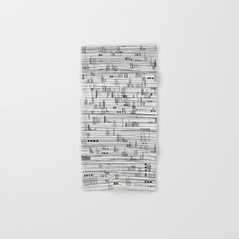 Harbour #2-minimalist, decorative line Drawing Hand & Bath Towel