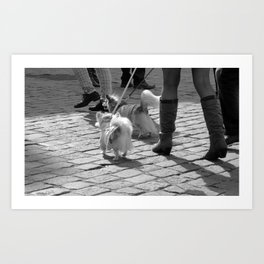 """dogs go to shop"" Art Print"