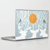 pixies Laptop & iPad Skins featuring All Good Deer go to Heaven by Cocorrina