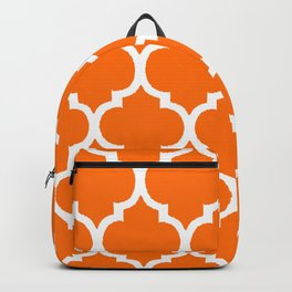 MOROCCAN ORANGE AND WHITE PATTERN Backpack
