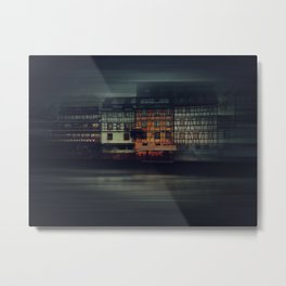 Night Strasbourg Metal Print