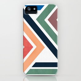 Colorful zig zag pattern iPhone Case