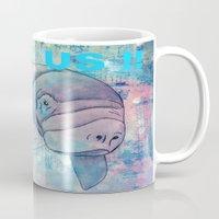 manatee Mugs featuring Whimiscal Manatee by Judy Skowron