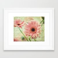 shabby chic Framed Art Prints featuring Shabby Chic by whimsy canvas