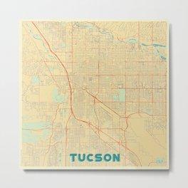 Tucson Map Retro Metal Print