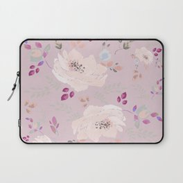 Soft pink blooming watercolor roses Laptop Sleeve