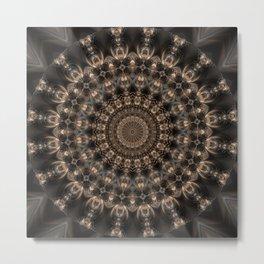Mandala grey elegance Metal Print