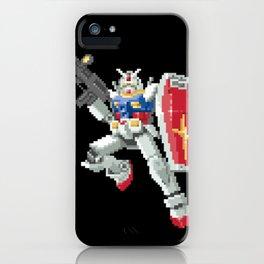 8-bit Gundam iPhone Case