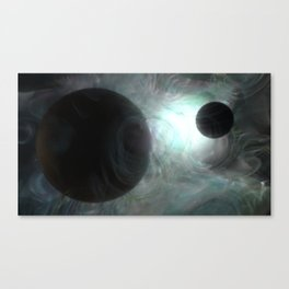 Dancers in Space Canvas Print
