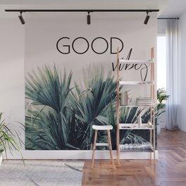 Good Vibes Palm Wall Mural