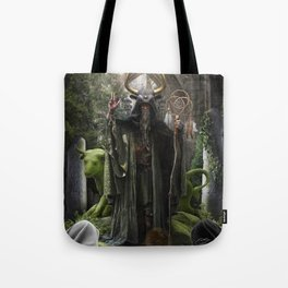 V. The Hierophant Tarot Card Illustration (Color) Tote Bag