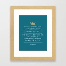 Isaiah 9:6 Framed Art Print