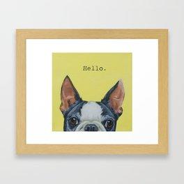Hello. Framed Art Print