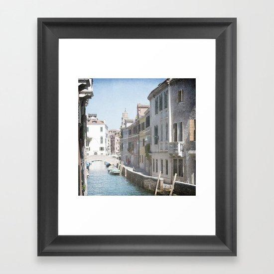 The Side Street - Venice, Italy Framed Art Print
