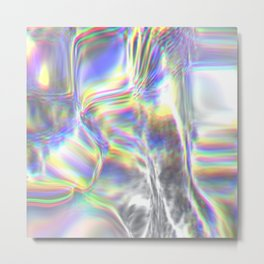 Magical Holographic Foil Textures Metal Print