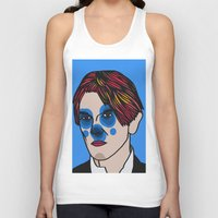 david bowie Tank Tops featuring David Bowie by Arnaud Pagès