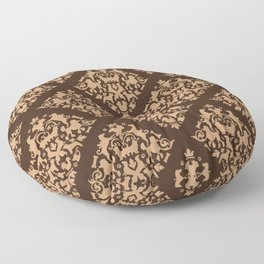 Dog Damask Floor Pillow