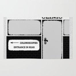 Colonoscopy Colonoscopies Entrance at Rear Funny Cartoon Illustration Rug