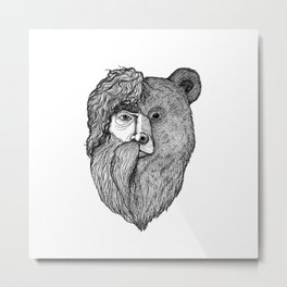 Wild Bear-Man Metal Print