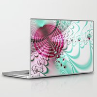 cake Laptop & iPad Skins featuring cake by Maureen Popdan