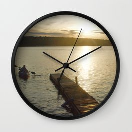 Alone Time photography Wall Clock